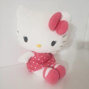 "Stuffed Hello Kitty 10"" Polk-A-Dot Dress 10"" Stuffed Animal Hello Kitty Sanrio"